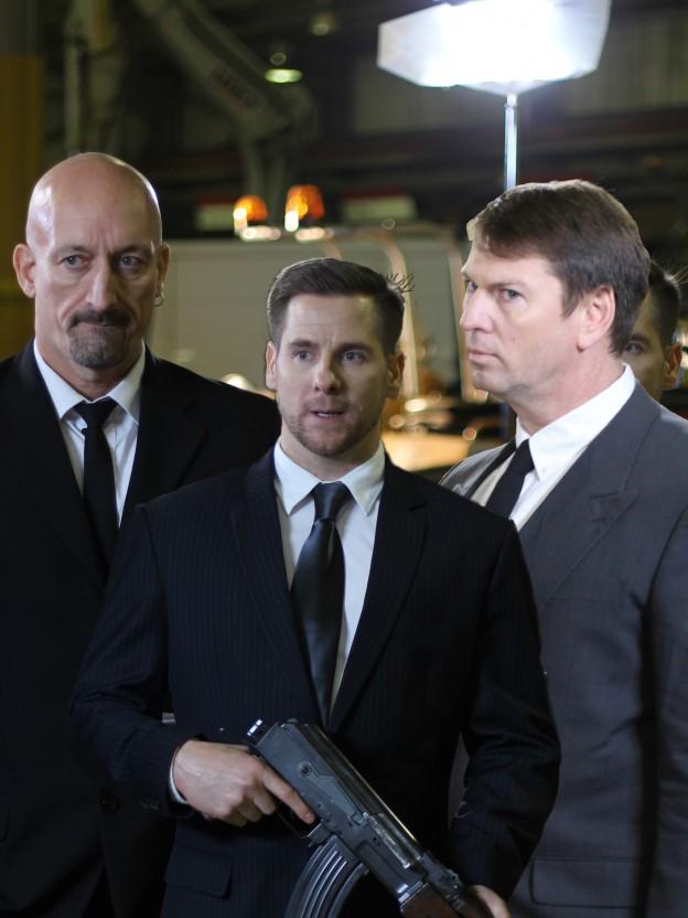 Murray's bodyguards - Steve Mancour, Grant Huggair, Matthew McCarthy